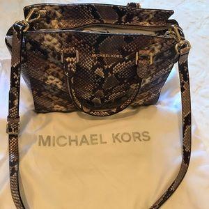 Michael Kors snake skin satchel almost new